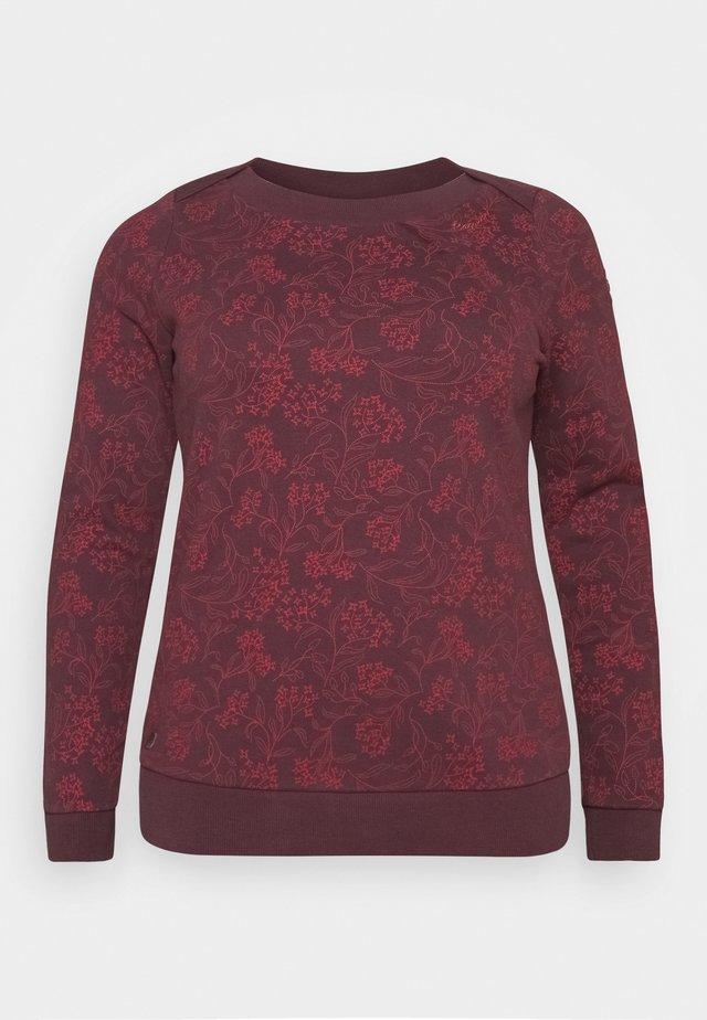 TASHI PLUS - Sweatshirt - wine red