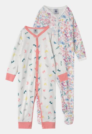 DORS BIEN 2 PACK - Sleep suit - white/pink