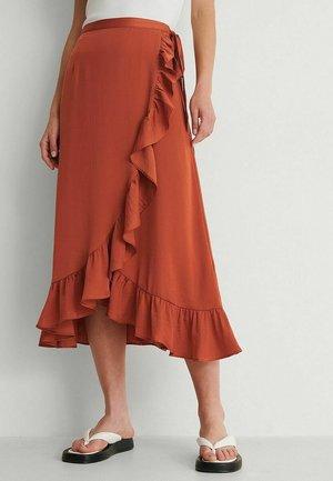 Wrap skirt - burnt orange
