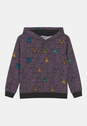 HOODED UNISEX - Sweatshirt - black neon