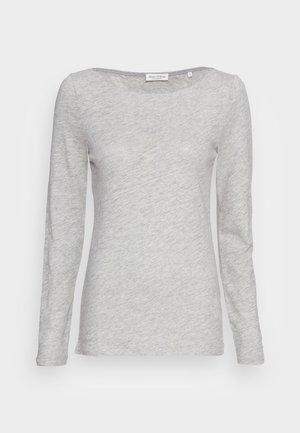 LONG SLEEVE BOAT NECK - Top sdlouhým rukávem - stony grey melange