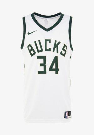 NBA MILWAUKEE BUCKS GIANNIS ANTETOUNMPO - Pelipaita - white/fir/flat opal