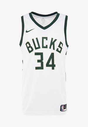 NBA MILWAUKEE BUCKS GIANNIS ANTETOUNMPO - Club wear - white/fir/flat opal