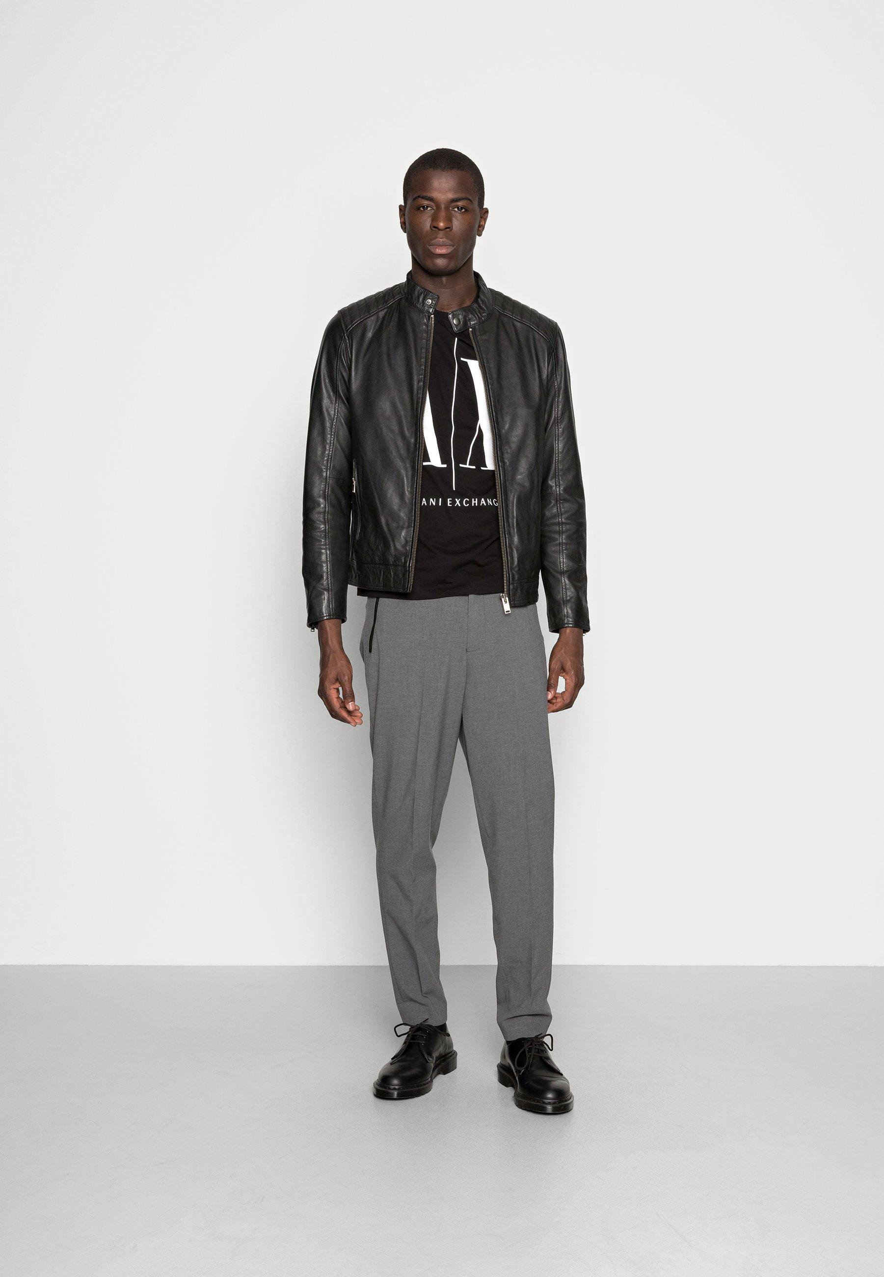 Men RACER - Leather jacket