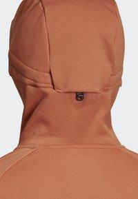 adidas Performance - TERREX CLIMAHEAT HOODED FLEECE - Fleece jacket - brown - 5