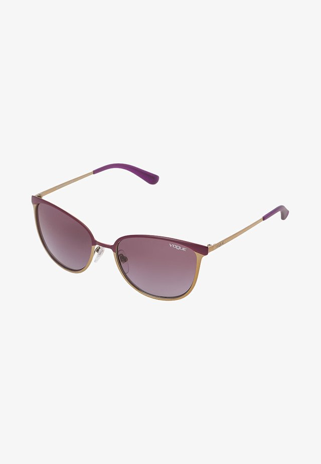 Sunglasses - matte violet/brushed gold-coloured