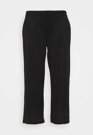 CARLAILI WIDE PANTS  - Pantalones - black