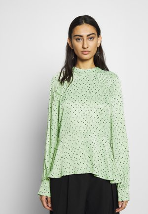 MARIELLE BLOUSE - Blouse - mint/black