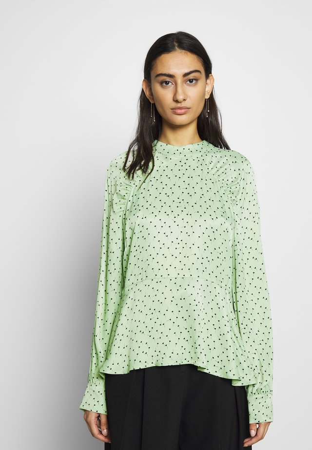 MARIELLE BLOUSE - Bluser - mint/black