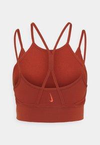 Nike Performance - INDY YOGA BRA - Light support sports bra - rugged orange/light sienna - 1