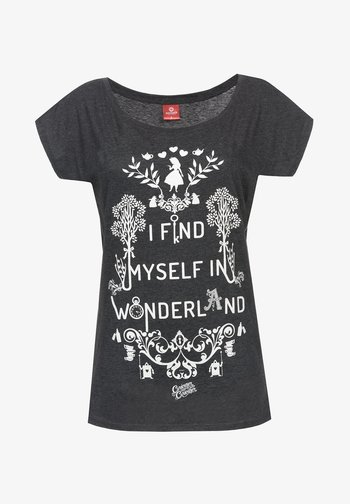 DISNEY, ALICE IN WONDERLAND - Print T-shirt - dunkelgrau meliert