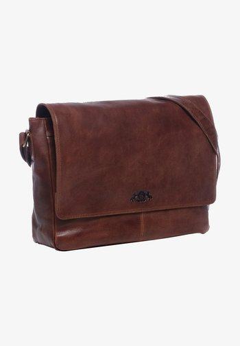 Laptop bag - braun-cognac