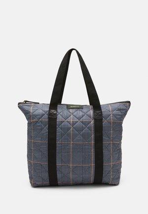 GWENETH CHECKY BAG - Shopping bag - blue fog