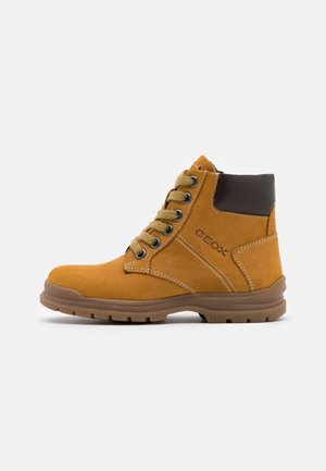 NAVADO BOY - Lace-up ankle boots - yellow/dark brown