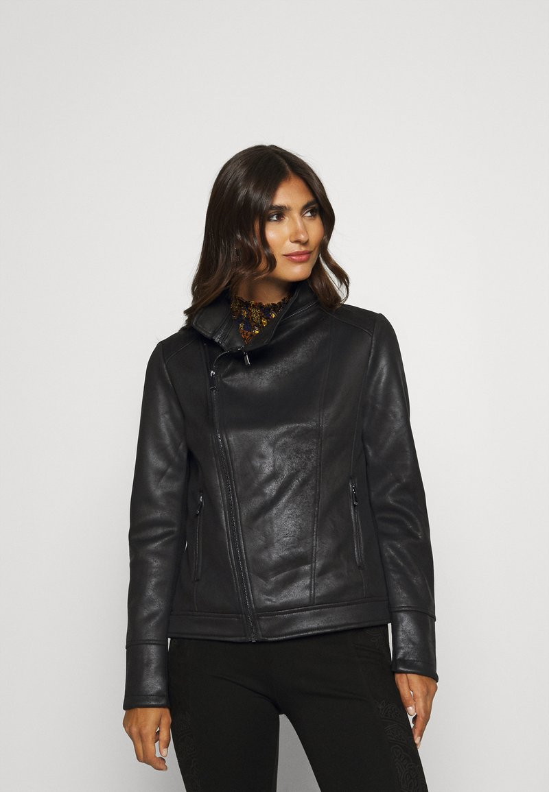 Desigual - CHAQ SVEN - Faux leather jacket - black