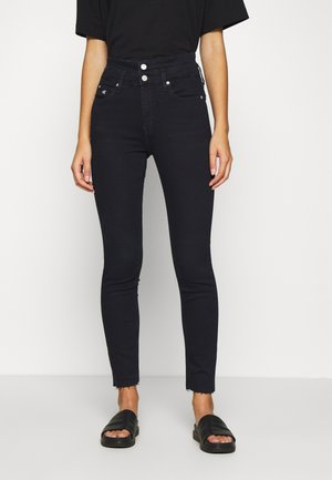 HIGH RISE SKINNY ANKLE - Jeans Skinny Fit - dark-blue denim