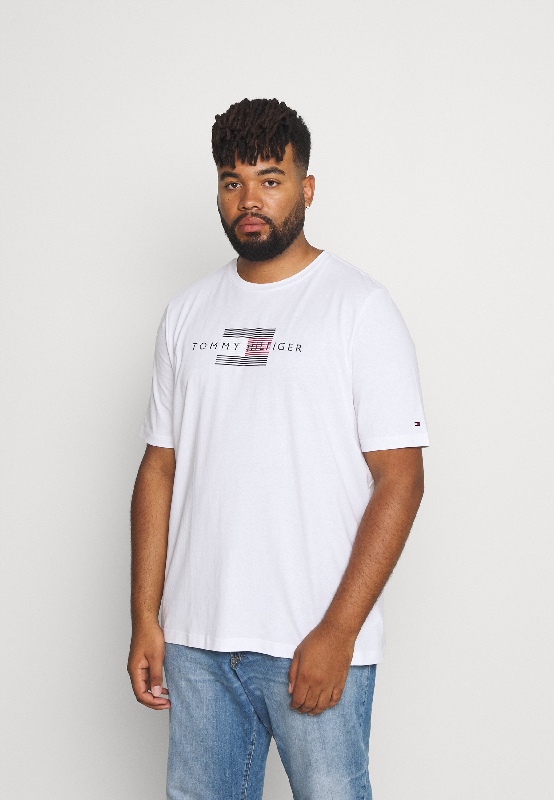 Men LINES TEE - Print T-shirt