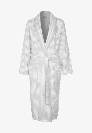 CARRERA - Dressing gown - weiß/grau