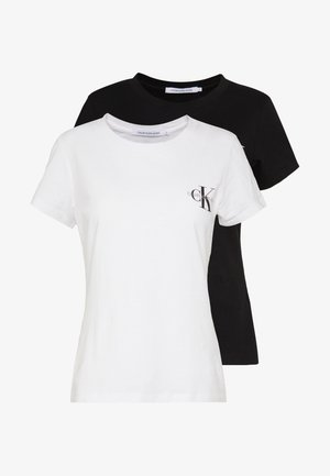 SLIM 2 PACK - T-shirts med print - black/bright white