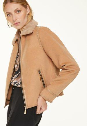 Summer jacket - chocolate camel