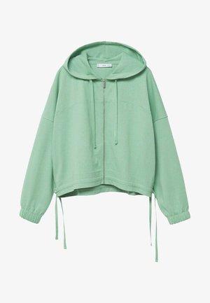 CLAY - Sweat à capuche zippé - pastellgrün