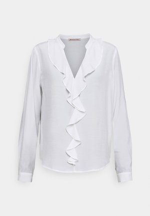 Blouse with volant - Bluse - off-white