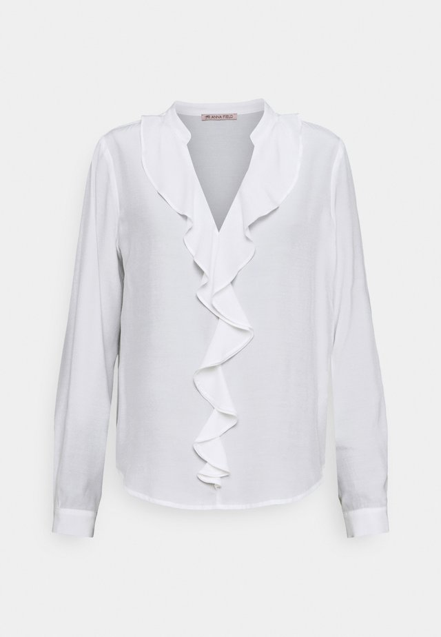 Blouse with volant - Blus - off-white