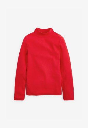 Top sdlouhým rukávem - red