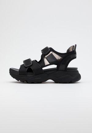 HARVEY  - Platform sandals - black