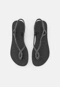 Havaianas - LUNA PREMIUM - Pool shoes - black/dark grey - 0