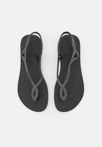 LUNA PREMIUM - Pool shoes - black/dark grey