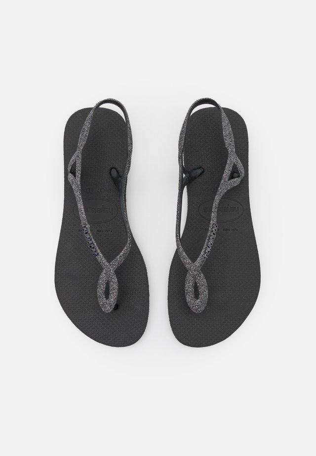 LUNA PREMIUM - Japonki kąpielowe - black/dark grey