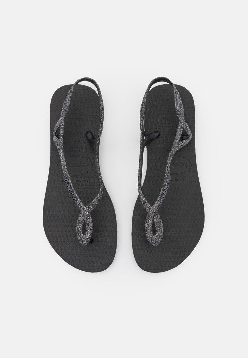 Havaianas - LUNA PREMIUM - Pool shoes - black/dark grey