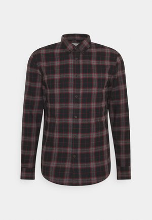 Shirt - mottled dark grey / bordeaux