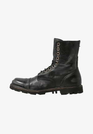 STEEL - Lace-up ankle boots - black
