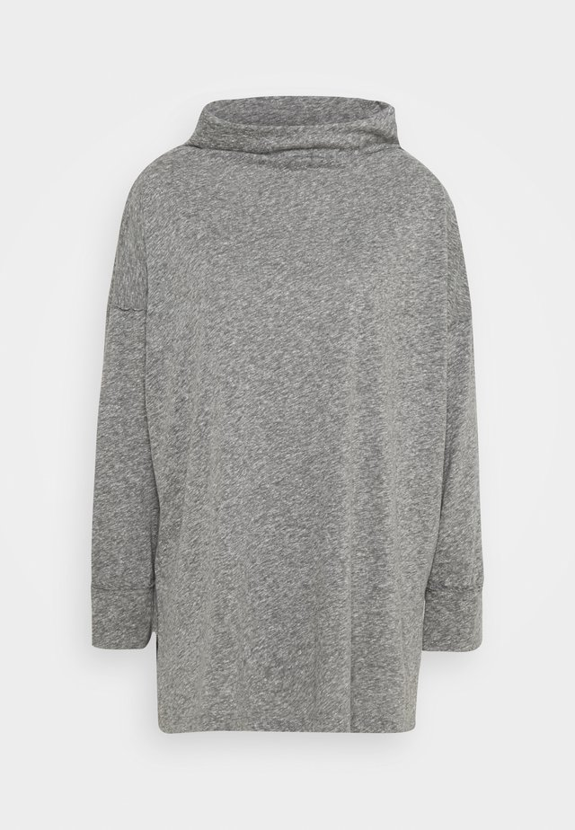 FUNNEL NECK TUNIC - T-shirt à manches longues - gray