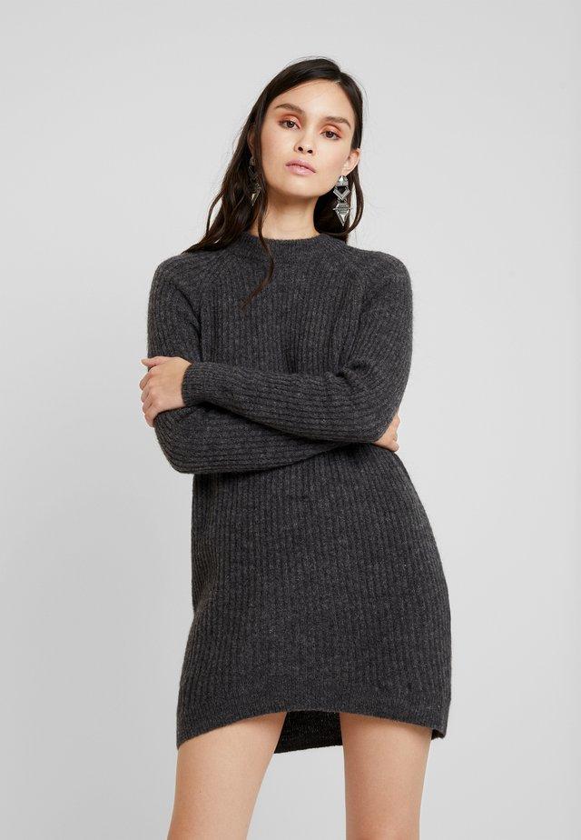 ELLEN - Pletené šaty - dark grey melange