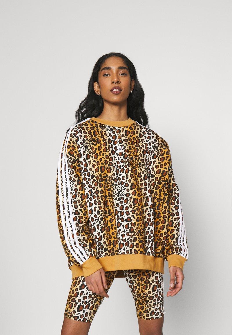 adidas Originals - LEOPARD CREW - Sweatshirt - multco/mesa