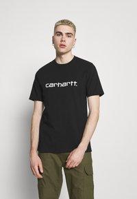 Carhartt WIP - SCRIPT  - Triko spotiskem - black/white - 0
