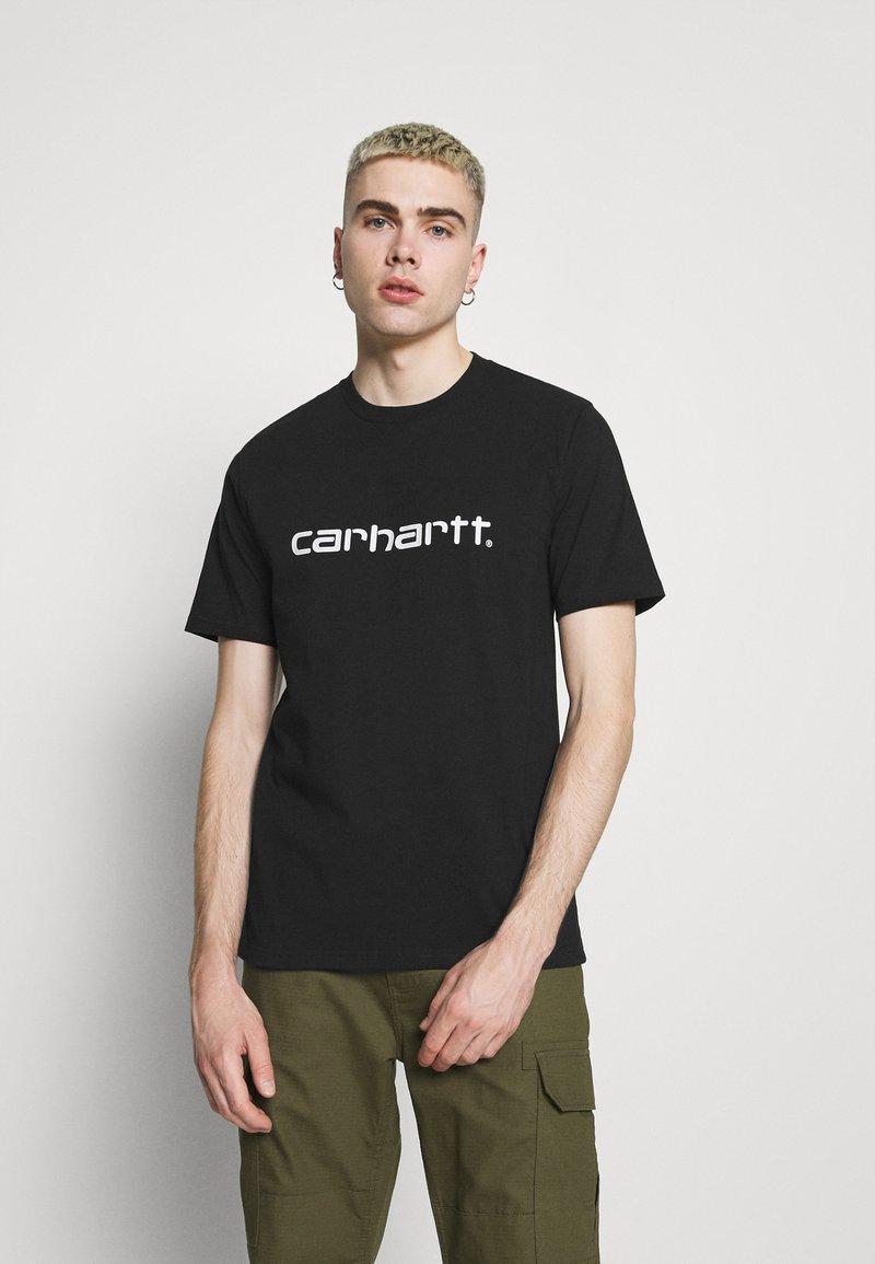 Carhartt WIP - SCRIPT  - Triko spotiskem - black/white