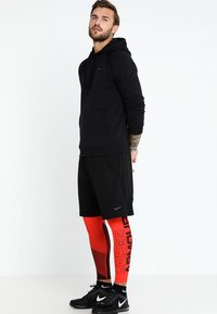 Under Armour - RIVAL HOODY - Hoodie - black/black - 1