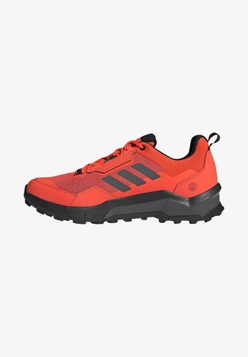 TERREX AX4 HIKING TECHNICAL PRIMEGREEN SHOES MID - Hiking shoes - solar red/grey five/core black