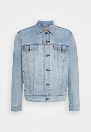 THE TRUCKER JACKET UNISEX - Džínová bunda - light indigo/worn in