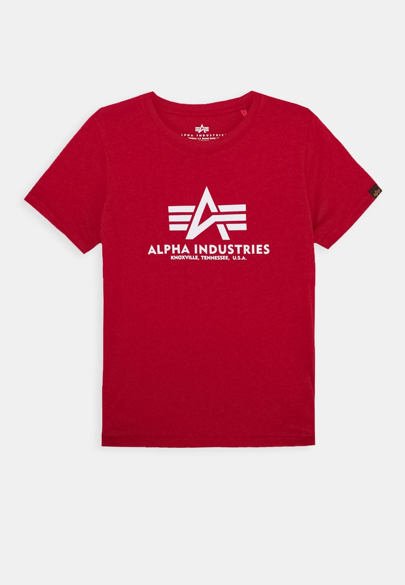 Alpha Industries - BASIC - Print T-shirt - speed red