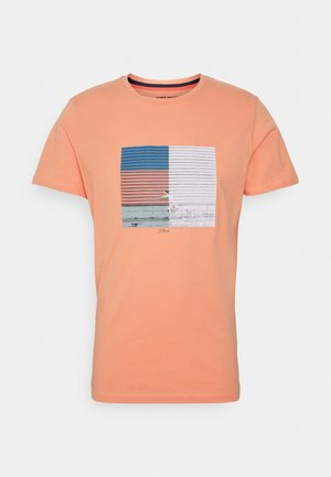JORHALFO TEE CREW NECK - Print T-shirt - shell coral