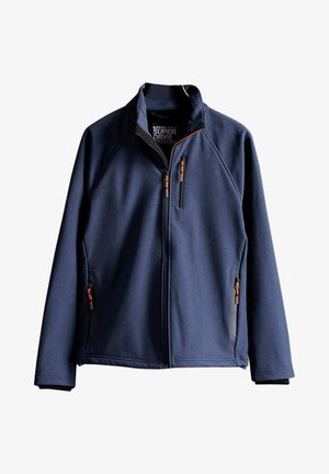 Soft shell jacket - navy marl/dark grey