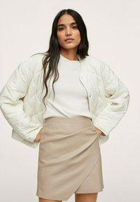 Mango - LEEREFFECT - Wrap skirt - licht/pastelgrijs - 3