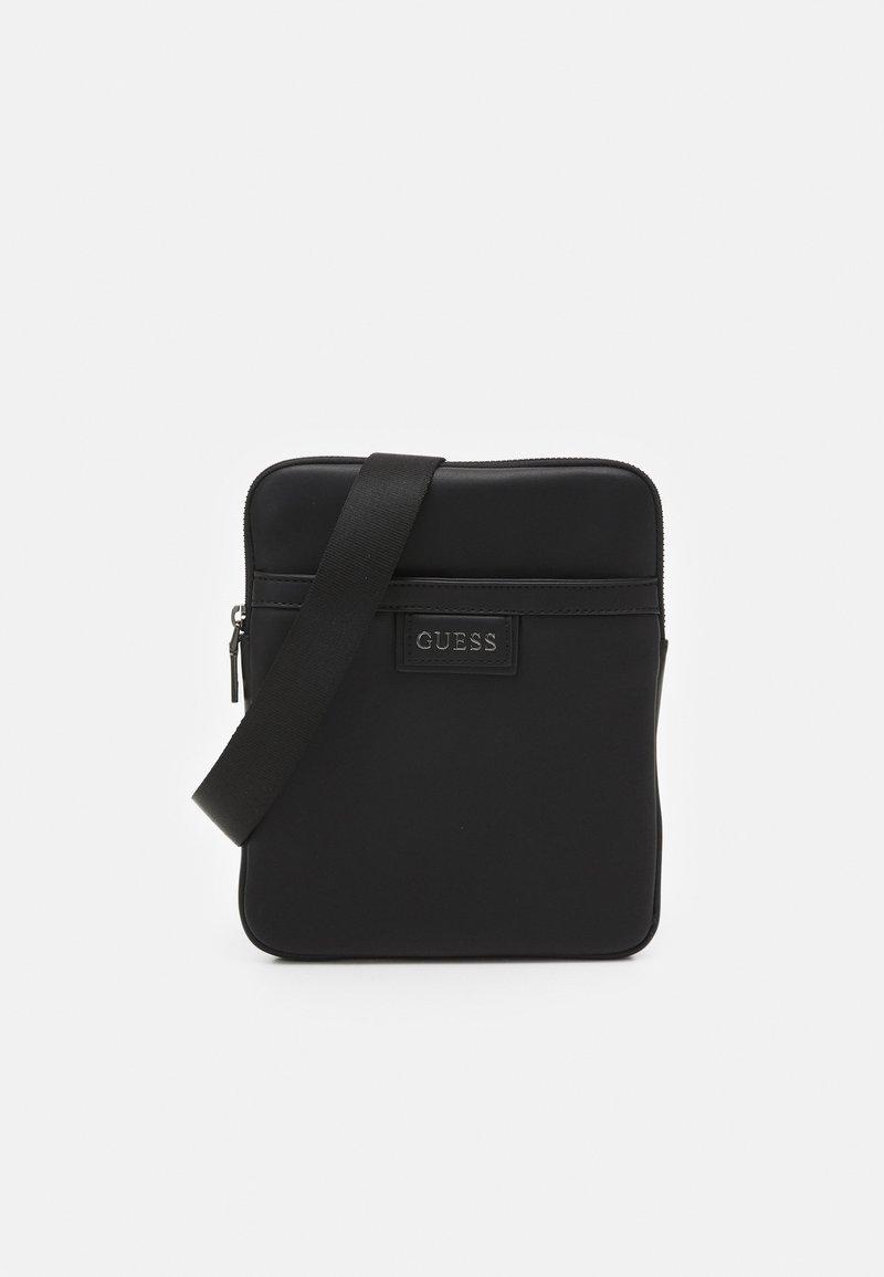 Guess - SCALA SMART CROSSBODY FLAT UNISEX - Across body bag - black