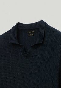 Massimo Dutti - Strickpullover - blue-black denim - 3