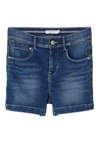 Name it - HIGH WAIST - Denim shorts - medium blue denim - 0